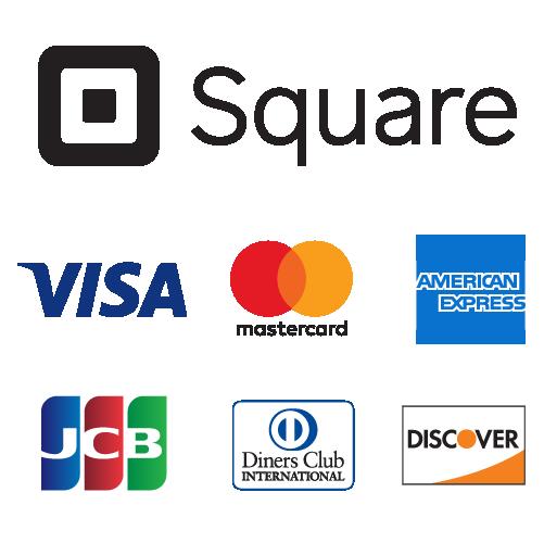 店頭でのお支払いはクレジットカードでもお支払いできます。